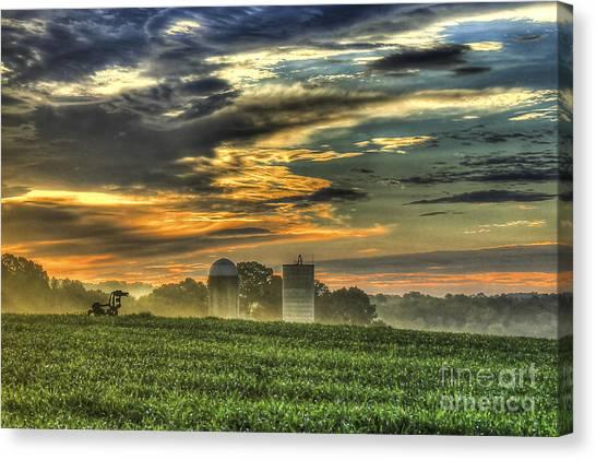 University Of Georgia Canvas Print - The Iron Horse New Corn Sunrise 2 by Reid Callaway