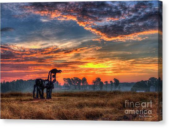 University Of Georgia Canvas Print - The Iron Horse Revisited by Reid Callaway