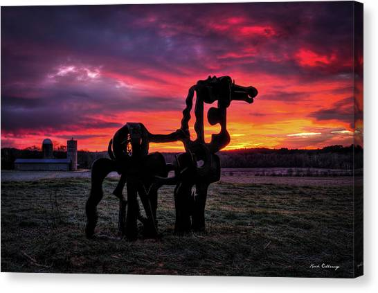 The Iron Horse Sun Up Art Canvas Print