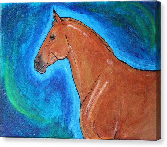 University Of Connecticut Canvas Print - The Iron Horse Uconn Polo Pony, Moe by Helen Scanlon