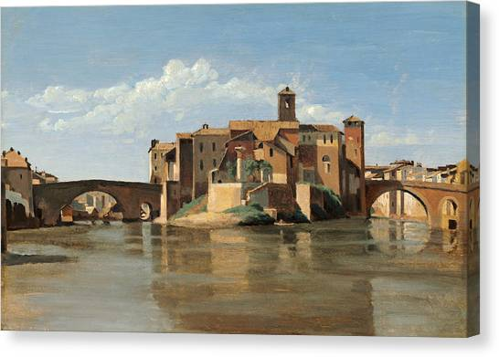 The Island And Bridge Of San Bartolomeo Canvas Print