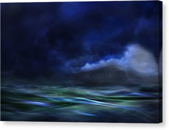 The Sky Canvas Print - The Island by Willy Marthinussen