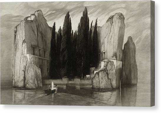 Printmaking Canvas Print - The Isle Of The Dead by Max Klinger