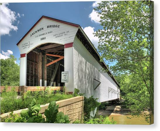 The Jackson Covered Bridge Canvas Print