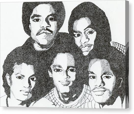 The Jacksons Tribute Canvas Print