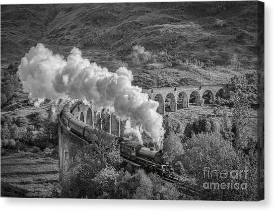 Steam Trains Canvas Print - The Jacobite At Glenfinnan by Colin and Linda McKie