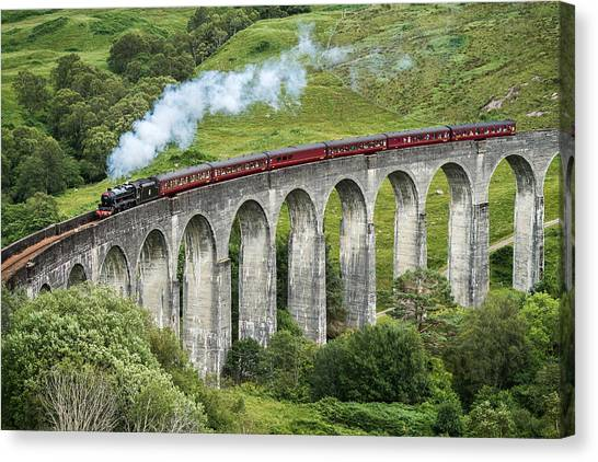 Harry Potter Canvas Print - The Jacobite Crossing Glenfinnan Viaduct by Antony Meadley