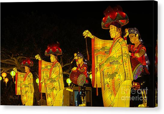 The Japanese Lantern Dancers Canvas Print