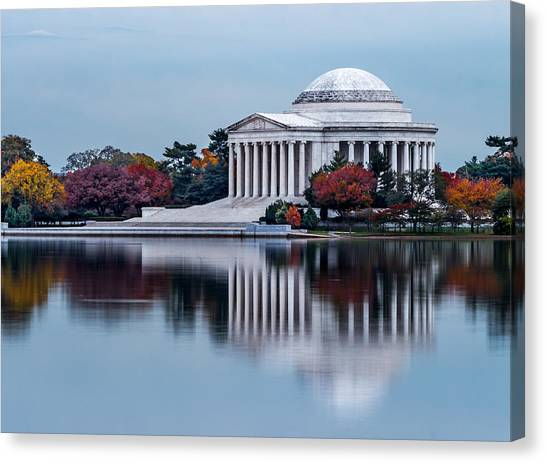 The Jefferson In Baby Blue Canvas Print