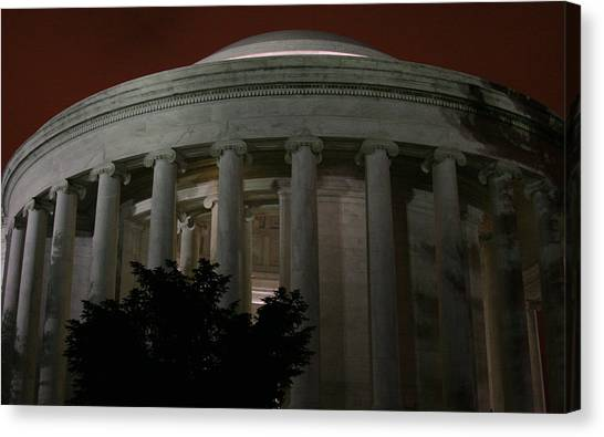 The Jefferson Memorial At Night Canvas Print by Brian M Lumley