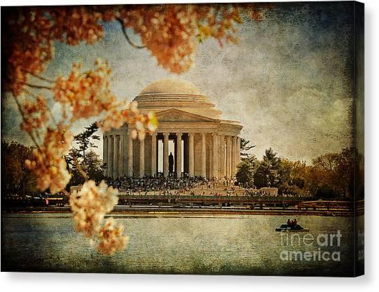 Jefferson Memorial Canvas Print - The Jefferson Memorial by Lois Bryan