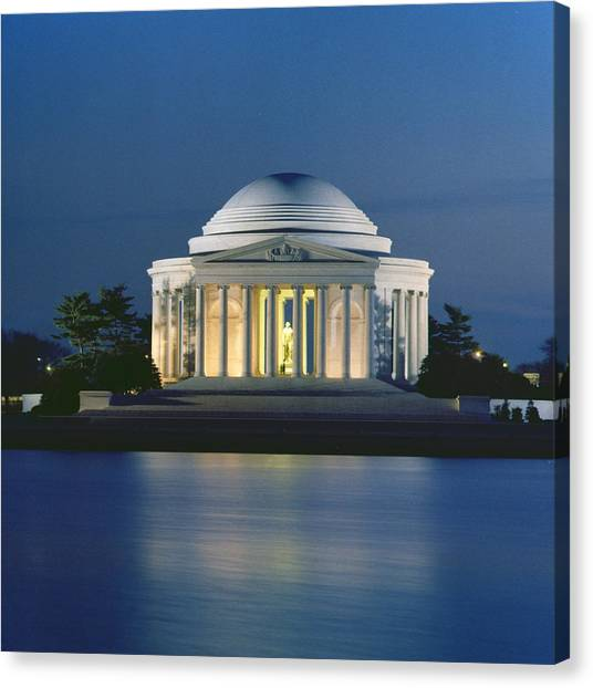 Jefferson Memorial Canvas Print - The Jefferson Memorial by Peter Newark American Pictures