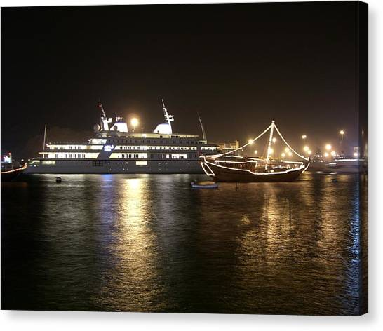 The Jewel In The Crown- Ships At Sea Canvas Print by Sunaina Serna Ahluwalia