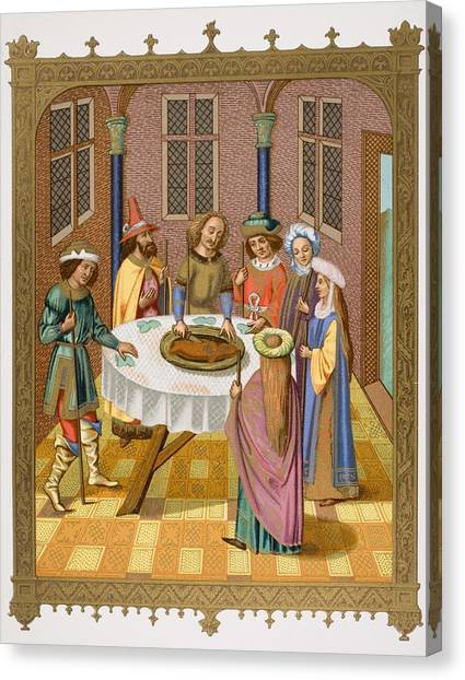 Passover Canvas Print - The Jews Passover. Facsimile Of A by Vintage Design Pics