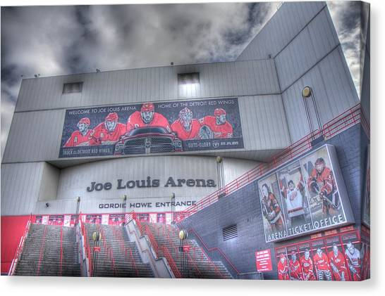 Detroit Red Wings Canvas Print - The Joe by Chris Coleman