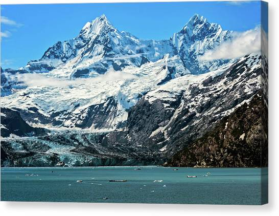 The John Hopkins Glacier Canvas Print