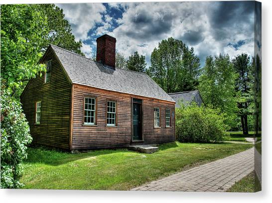 The John Wells House In Wells Maine Canvas Print