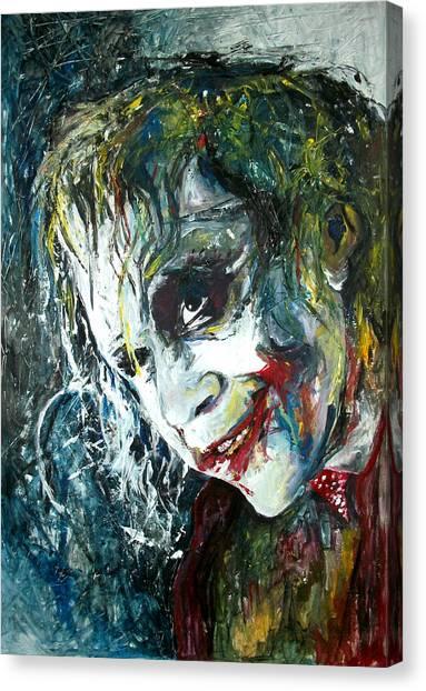 Heath Ledger Canvas Print - The Joker - Heath Ledger by Marcelo Neira