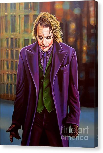 Knights Canvas Print - The Joker In Batman  by Paul Meijering