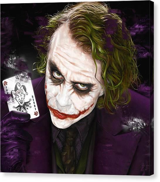 Heath Ledger Canvas Print - The Joker by Love Art