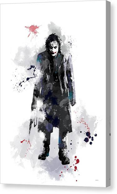 Heath Ledger Canvas Print - The Joker by Marlene Watson