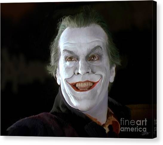 Jack Nicholson Canvas Print - The Joker by Paul Tagliamonte