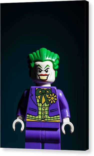 Crazy Canvas Print - The Joker by Samuel Whitton