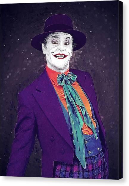 Heath Ledger Canvas Print - The Joker by Zapista