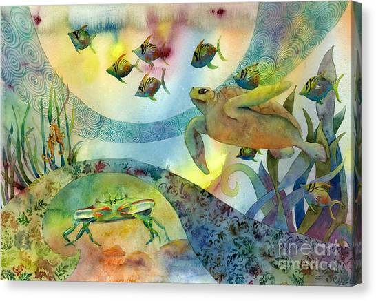 Turtles Canvas Print - The Journey Begins by Amy Kirkpatrick