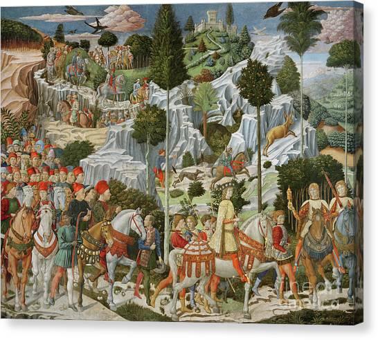Fruit Trees Canvas Print - The Journey Of The Magi To Bethlehem by Benozzo di Lese di Sandro Gozzoli