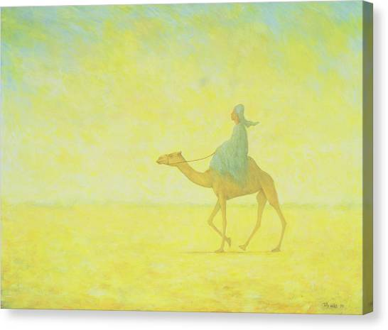 Camel Canvas Print - The Journey by Tilly Willis