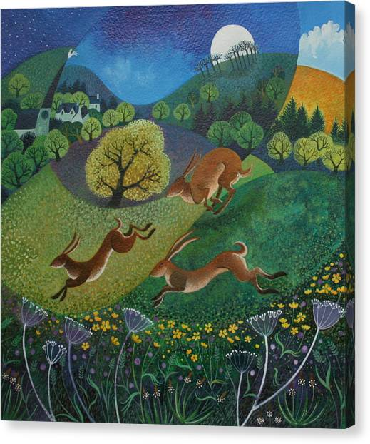March Hare Canvas Print - The Joy Of Spring by Lisa Graa Jensen