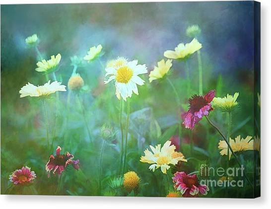 The Joy Of Summer Flowers Canvas Print