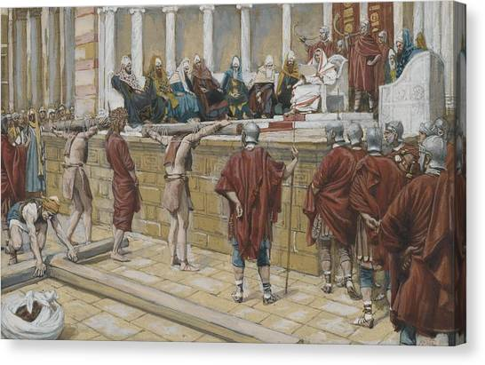 Messiah Canvas Print - The Judgement On The Gabbatha by Tissot