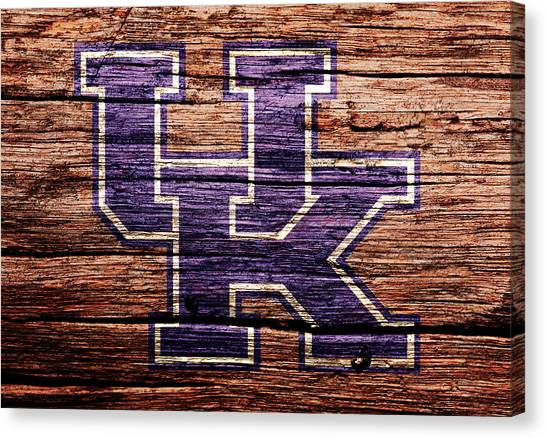 University Of Kentucky Canvas Print - The Kentucky Wildcats 1b by Brian Reaves