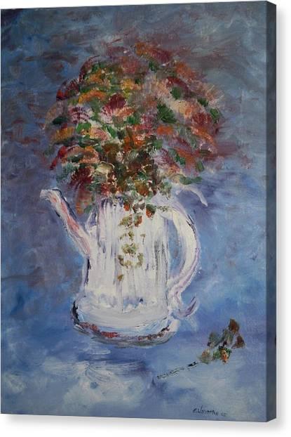 The Kettle Vase Canvas Print by Edward Wolverton