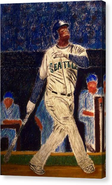 Seattle Mariners Canvas Print - The Kid Feat Ken Griffey Jr by D Rogale