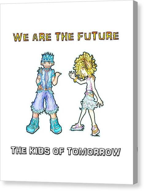 Canvas Print featuring the digital art The Kids Of Tomorrow Toby And Daphne by Shawn Dall