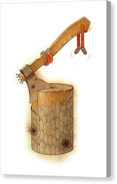 Axes Canvas Print - The King Axe by Kestutis Kasparavicius