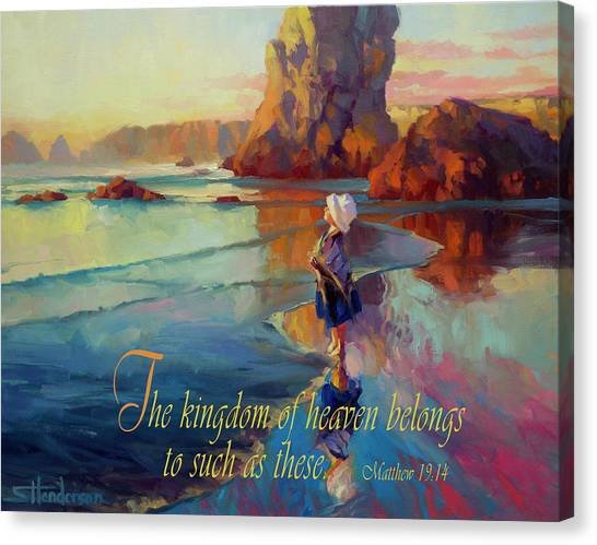 Bible Verses Canvas Print - The Kingdom Belongs To These by Steve Henderson