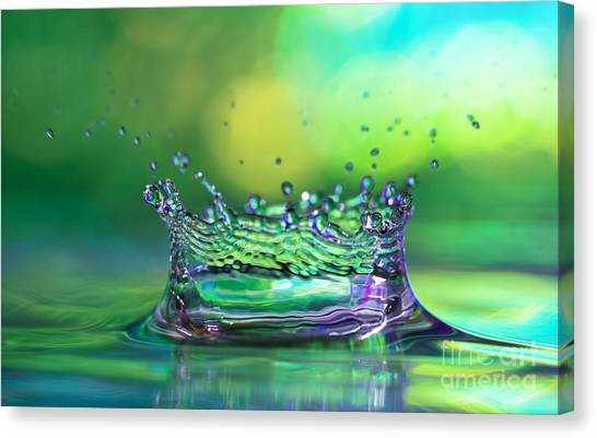 Rain Canvas Print - The Kings Crown by Darren Fisher