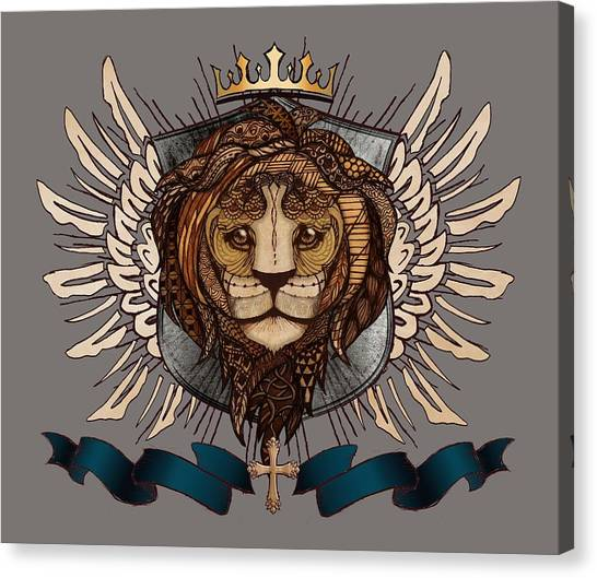 The King's Heraldry II Canvas Print