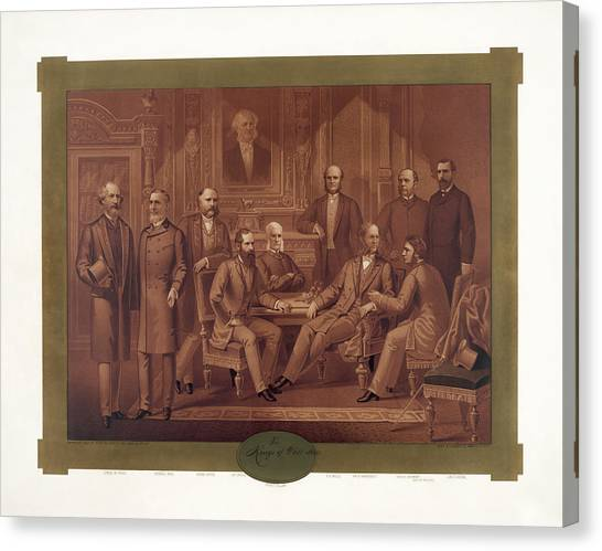 Mba Canvas Print - The Kings Of Wall Street - 1882 by War Is Hell Store