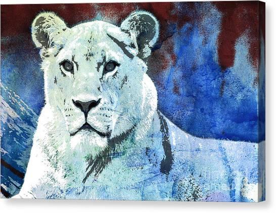 Creative Manipulation Canvas Print - The King's Wife by Jutta Maria Pusl