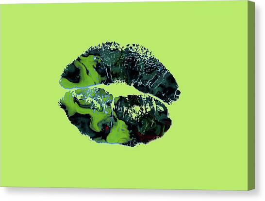 Briton Canvas Print - The Kiss 1a by Brian Reaves