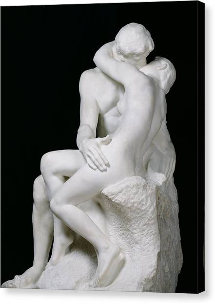 Passionate Canvas Print - The Kiss by Auguste Rodin