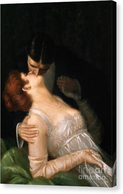 Gent Canvas Print - The Kiss by G Baldry