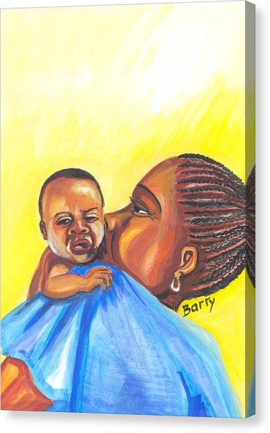 The Kiss Of A Mother In Senegal Canvas Print