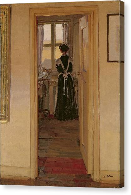 1876 Canvas Print - The Kitchen by Harold Gilman