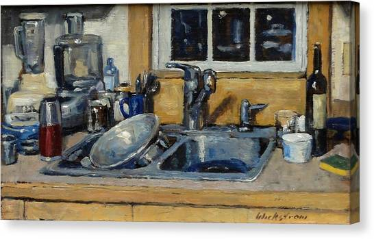The Kitchen Sink Canvas Print